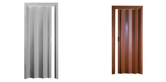 Porte a soffietto in PVC o legno